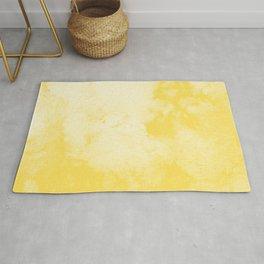Watercolor wash - yellow Rug