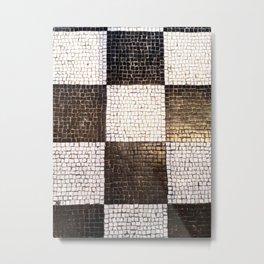 Black and White Checkerboard Metal Print
