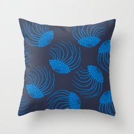 JELLYFISH in BLUE Throw Pillow