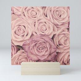 Some People Grumble - Pink Rose Pattern - Roses Garden Mini Art Print