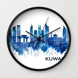 Kuwait City Kuwait Skyline Blue Wall Clock