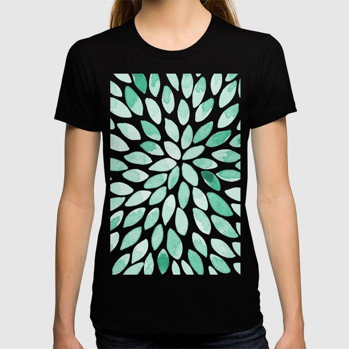 Watercolor brush strokes - aqua T-shirt