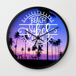 Beach Vibes Only Wall Clock