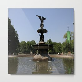 Angel  Of The Waters Fountain - Central Park Metal Print