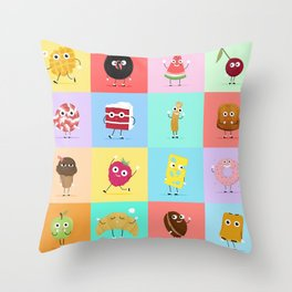 A Snack A Day Throw Pillow