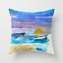 sinking sun Throw Pillow