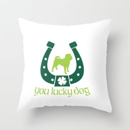 Shar Pei You Lucky Dig St. Patrick's Day Throw Pillow