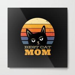 Best Cat Mom Metal Print