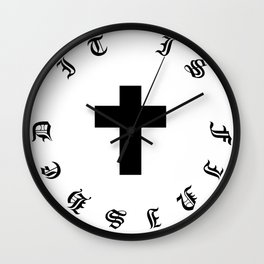 It Is Finished Wall Clock