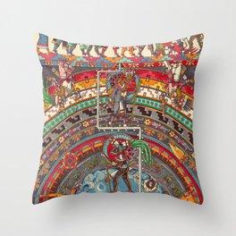 The Descent of Quetzalcoatl 1 Throw Pillow