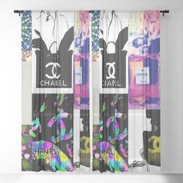 CC No.5 Fashion Collage Sheer Curtain