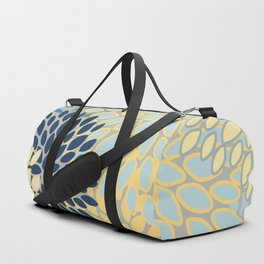 Floral Print, Yellow, Gray, Blue, Teal Duffle Bag