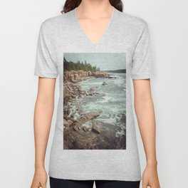 Swirling Sea Unisex V-Neck