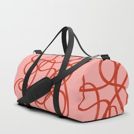 Pink Scribble Duffle Bag
