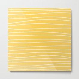 Sunshine Brush Lines Metal Print