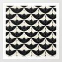 CRANE DESIGN - pattern - Black and White by dbbart