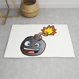bomb explosive character mascot Rug
