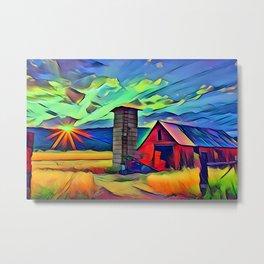 Ideal Farm Metal Print