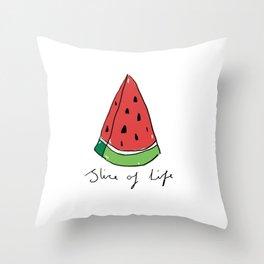 Watermelon - Slice of Life Throw Pillow