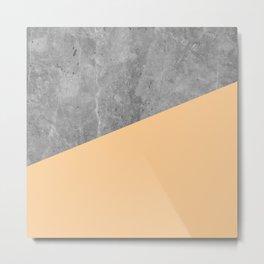 Geometry 101 Orange Sherbet Metal Print