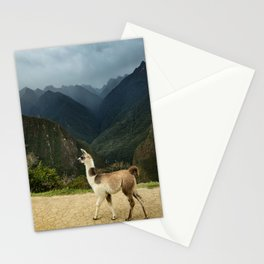 Llama in Peru Photography in Hd Stationery Cards