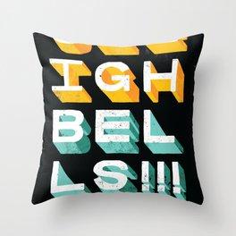 Sleigh Bells Throw Pillow