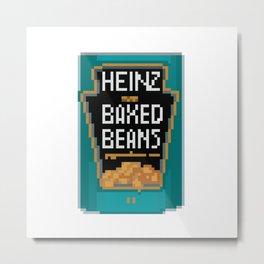 Heinz Baked Beans Pixel Art DayZ Metal Print