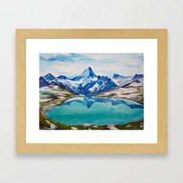 Swiss Mountains Framed Art Print