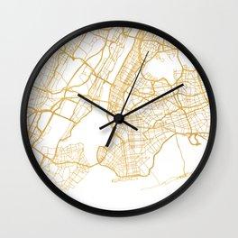 NEW YORK CITY NEW YORK CITY STREET MAP ART Wall Clock
