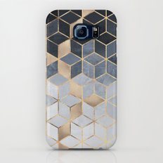 Soft Blue Gradient Cubes Galaxy S8 Slim Case
