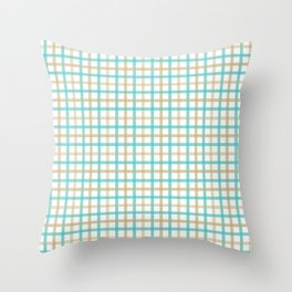 Pattern in Gingham:. Throw Pillow