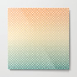 Coral, apricot, turquoise gradient. Ombre. Metal Print