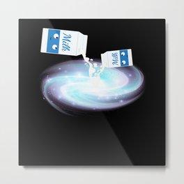 Milk Galaxy Milk Funny Carton Metal Print