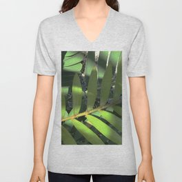 Fine Art Leaves In Dappled Shadows Unisex V-Neck