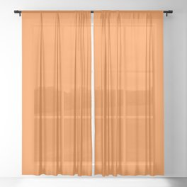 Turmeric FF842A Orange Solid Color Block Sheer Curtain