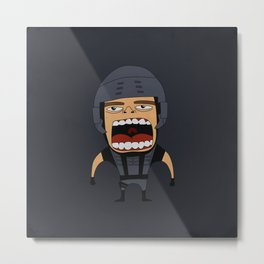 Screaming Johnny Rico Metal Print