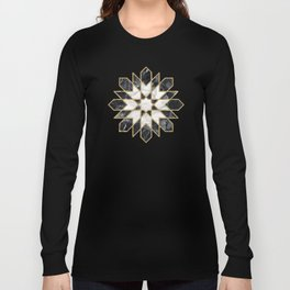 Black and white marble Moroccan mosaic Long Sleeve T-shirt