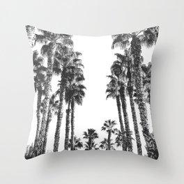 Palm Tree Days {2 of 2} Tropical Black and White Cali Art Print Throw Pillow