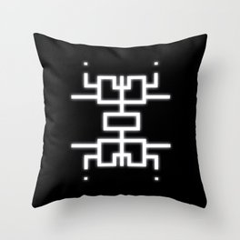 Emergence Symbol Throw Pillow