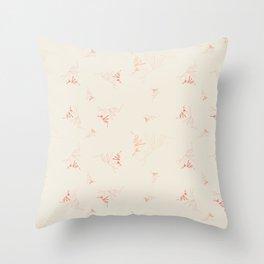 Seaweed - blush Throw Pillow