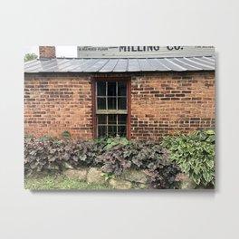 Milling Company Window Bricks and Botanics Metal Print