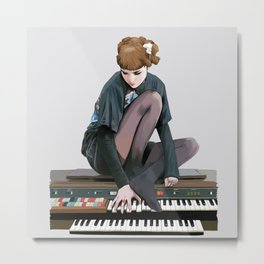 See you on a dark night - Visions - portrait of musician Grimes Metal Print