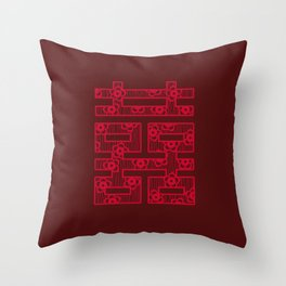 Shuang-Xi / Double Happiness Symbol Throw Pillow