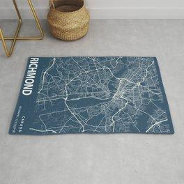 Richmond Blueprint Street Map, Richmond Colour Map Prints Rug