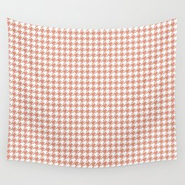 Small Pastel Peach Houndstooth Pattern Wall Tapestry