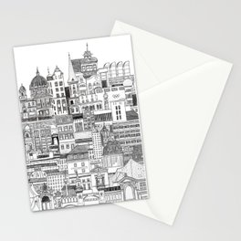 Berlin - cityscape print - architecture Stationery Cards