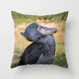 Shoe-Billed Stork Throw Pillow