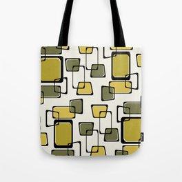 Skewed Squares Midcentury Pattern Chartreuse Tote Bag