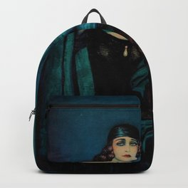 Hollywood stars and lovers Pola Negri & Rudolph Valentino with guitar portrait painting by Federico Beltran Masses Backpack