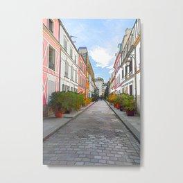 Rue Cremieux in Paris Metal Print